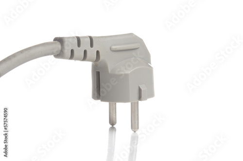 Power plug on white background