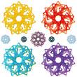 Muster Mandala - 3D Effekt - Logo