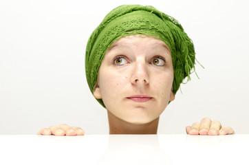 Frau mit grünem Turban