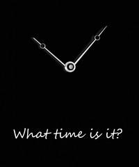 orologio con quadrante  nero