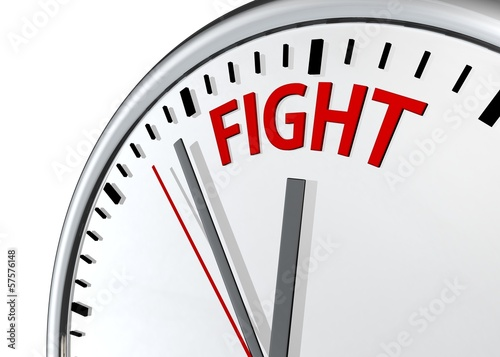 Time to Fight  - A clock with the words