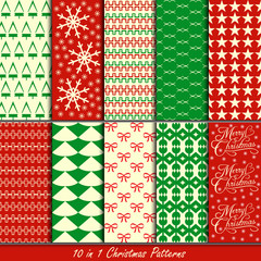 Christmas patterns collection set