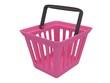 3D rendering of pink shopping basket