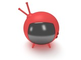 Funny TV with antenna. 3d render. Isolated.