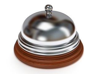 Hotel reception bell. 3d render.