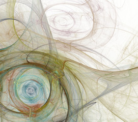 Abstract fractal background white
