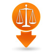 justice sur signet orange