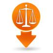 justice sur signet orange