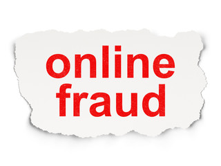 Security concept: Online Fraud on Paper background