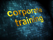 Education concept: Corporate Training on digital background