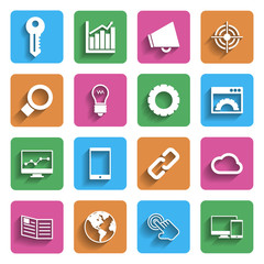 Modern Internet Marketing Icons