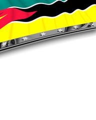 Designelement Flagge Mosambik