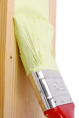 painting wood surface