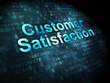 Marketing concept: Customer Satisfaction on digital background