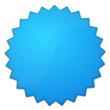 Schild blau Stern