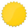 Schild Stern gelb