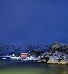 Polar night.Tromso,Norway.