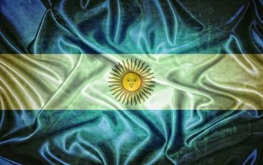 Vintage Argentina flag.