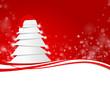 Weihnachtsbaum mit Bommelmütze