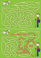 Guide dog maze