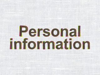 Protection concept: Personal Information on fabric texture