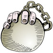 Wedding Ring Ball and Chain
