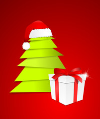 Weihnachtsbaum mit Geschenk