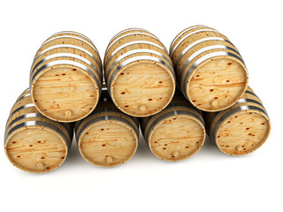 Barrels for wine-whisky aging