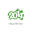 Happy New Year 2014 green logo vector