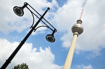 Berlino, la torre della televisione ad Alexanderplaz