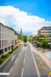 Green and beautiful streets of Vaduz, Liechtenstein
