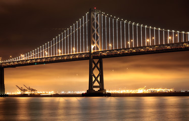 Bay Bridge, San Francisco and Oakland