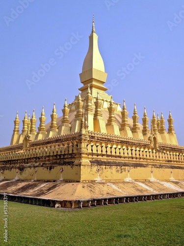 Pha That Luang Great Stupa Vientiane Laos Southeast Asia