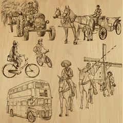 Transportation around the World 3 - drawings into vector set