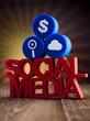 Social media communication,Internet concept, media icons set