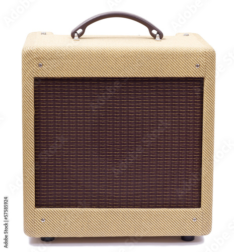 Vintage tweed guitar amplifier