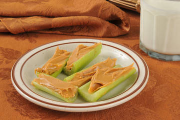 Celery and peanut butter