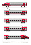 Modern high speed train set