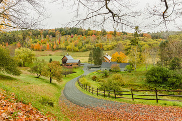 Farm in an Autumn Landscape