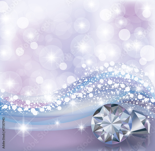 Winter card with diamonds, vector illustration