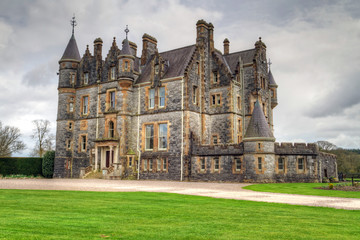Stone mansion at Blarney castle in Co. Cork, Ireland