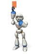 Robot pose red card