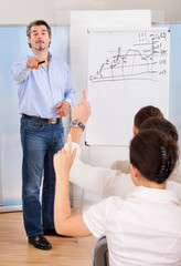 Businessman Pointing Finger Towards Colleague