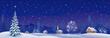 Christmas village banner - 57590996