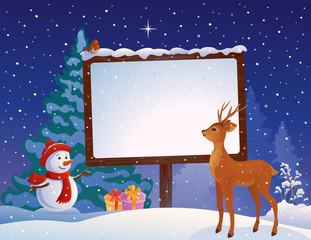Christmas placard