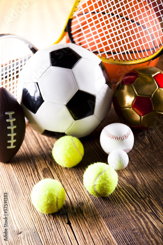 Leinwandbild Motiv Sports Equipment