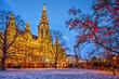 Leinwanddruck Bild - Vienna town hall