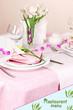 Elegant table setting in restaurant