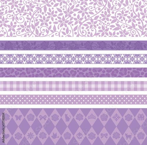 紫 かわいい 広告 ライン バナー