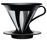 Funnel for straining coffee